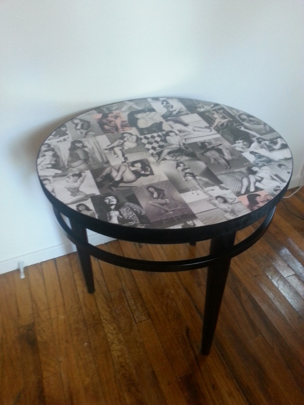 Bettie Page table