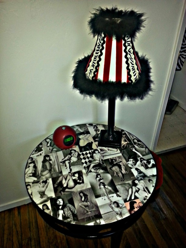 DIY Bettie Page Table